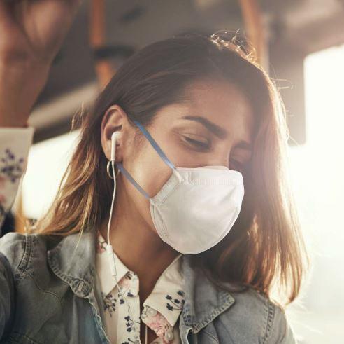Atemschutzmaske N95 FFP2 mit Ventilator