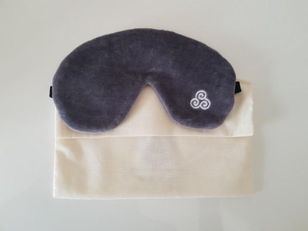 Schlafmaske aus Bio-Baumwolle Nasenauschnitt extra breit